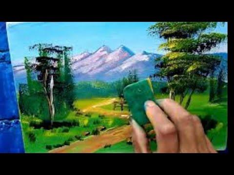 #1 Como pintar paisaje fácil con esponja