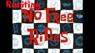 Reciting SpongeBob Episodes: No Free Rides