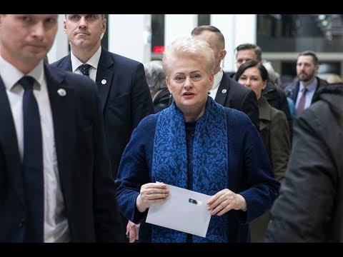 Tiesiogiai: Dalia Grybauskaitė balsuoja merų rinkimų antrajame ture