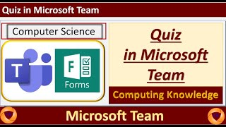 how to create a quiz in Microsoft Team || how to add a quiz to Microsoft Team