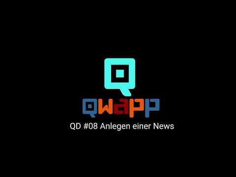 QD #08 Anlegen einer News