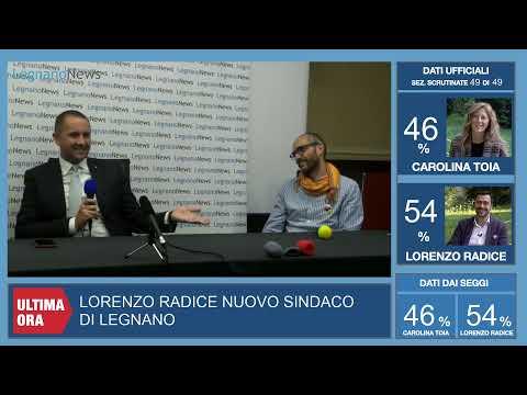 Lorenzo Radice sindaco, la lunga diretta dello spoglio elettorale