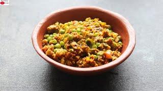 Mutta Peas – Egg & Green Peas Scrambled – Healthy High Protein Snacks | Skinny Recipes