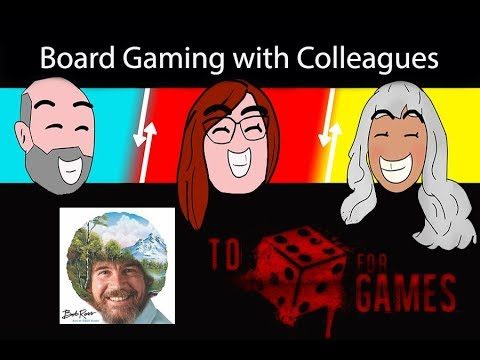 Bob Ross: Art of Chill: Board Gaming with Colleagues - To Die For Games