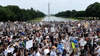 video: George Floyd protests: Biggest day of demonstrations in cities across the US