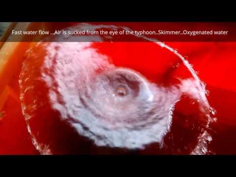 Aquarium Axial swirl Fish feces Separation device... Skimmer Schaumlöffel.Unreinheit Trennvorrichtun