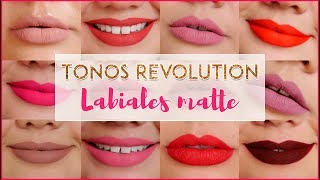 😍 Reseña Labiales Matte Tonos Revolution - Vanessa Bacca