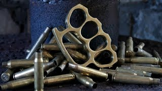 Casting Brass Knuckle Dusters from Brass Casings - Video Youtube