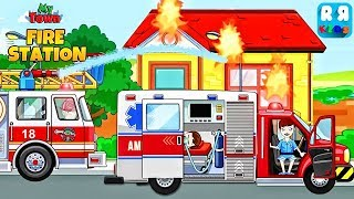 My Town : Fire station Rescue - Play with Fire Truck and Ambulance