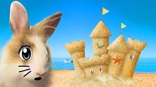 ОГРОМНЫЙ ЗАМОК ИЗ ПЕСКА и Кролик БАФФИ ! ЖЕЛЕЙНЫЙ МЕДВЕДЬ ВАЛЕРА И АНТИСТРЕСС не тут Отдых на море