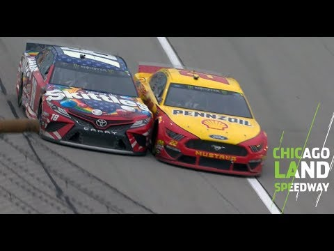 Logano, Kyle Busch make contact after thwarted block
