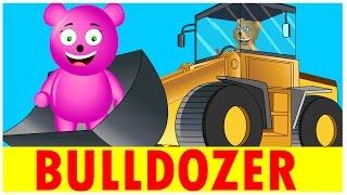 Mega Gummy Bear Builds Bulldozer | Truck Wars | Construction Video