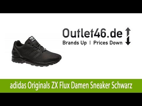 Elegante adidas Originals ZX Flux Damen Sneaker Schwarz kaufen günstig | Outlet46.de
