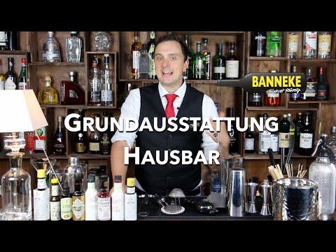Grundausstattung für die Hausbar - Schüttelschule by Banneke