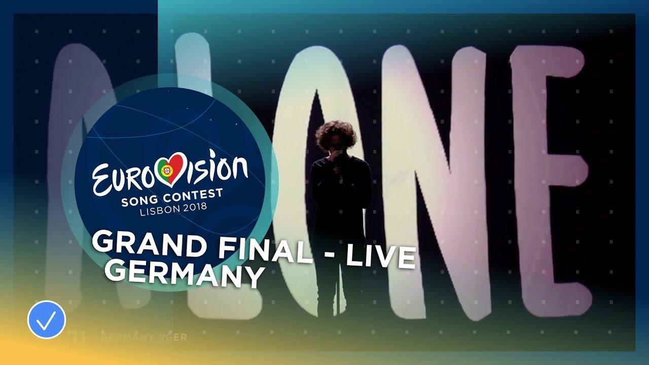 Eurovision 2018 Germany Michael Schulte You Let Me Walk Alone Emblem Plat D Deutschland Jerman