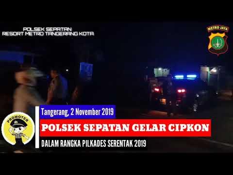 Polsek Sepatan Gelar Cipkon Jelang Pilkades Serentak 2019