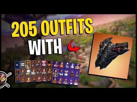 Spider Shield Back Bling on 205 Outfits | Commentary | Spider Knight - Fortnite Cosmetics