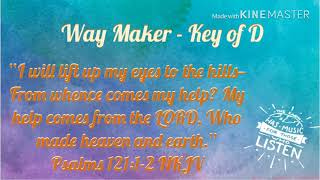 WAY MAKER   Miracle Worker   Key Of D