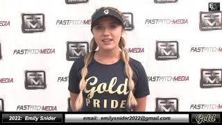 2022 Emily Snider - 3.75 GPA - Catcher, Third Base & Outfield Softball Skills Video - Foothill Gold