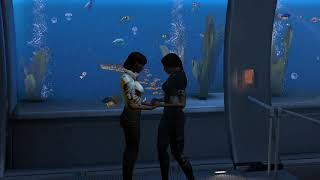 Mass Effect 3 - Expanded Galaxy Mod Cabin Photo and Invite - FemShep and Ashley Romance