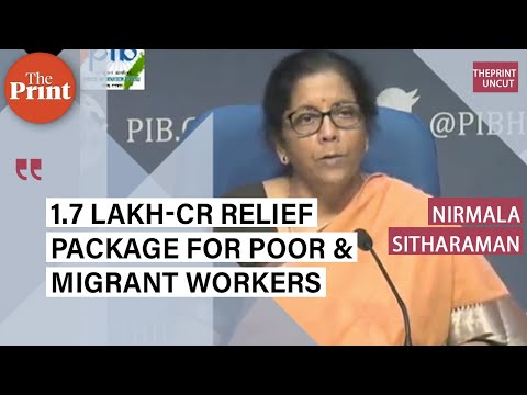 1.7 lakh-crore relief package for poor & migrant workers: FM Nirmala Sitharaman