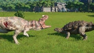 Crichtonsaurus VS Spinoraptor, Ceratosaurus, Carnotaurus and Suchomimus - Jurassic World Evolution
