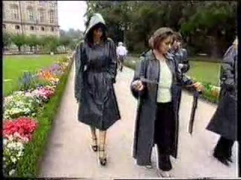 women in sbr rubber mackintosh