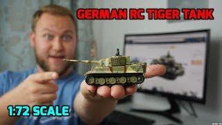 German Tiger Tank 1:72 Fully Functional RC Tank (RC Turbo Tank)