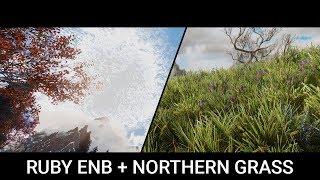 Skyrim Mods 2019 - Dual Showcase - RuBy ENB & Northern Grass