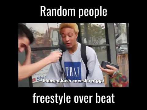 Random People Freestyle Over Beat