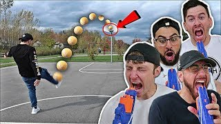 NERF RUSSIAN ROULETTE TRICK SHOT CHALLENGE!!!