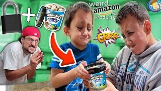 I locked their ben & jerry's ice cream... (FV Family Weird Amazon Items #2)