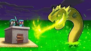 TOXIC OCEAN DRAGON DEFENSE FINALE! (Minecraft Island Survival)
