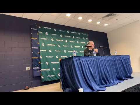 Mark Dantonio reacts after Michigan State's blowout loss to Michigan