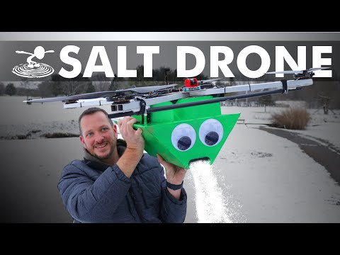 Using a Drone to Salt Your Driveway
