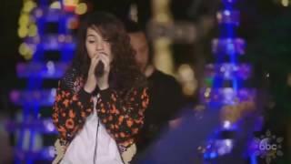"Alessia Cara sings 'How Far I'll Go' (FROM ""Moana"") live in Disney Holiday Celebration 2016"