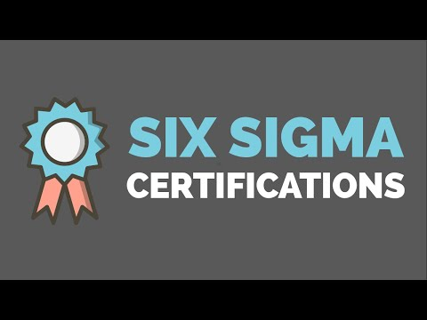 An Overview of Lean Six Sigma Certifications - YouTube