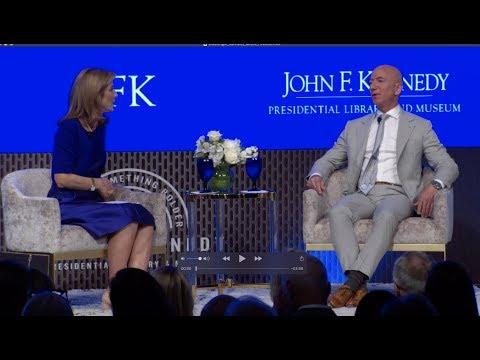Jeff Bezos speaks with Caroline Kennedy at the JFK Space Summit (Highlights)