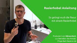 Rasierhobel Anleitung: So gelingt die Rasur mit dem Rasierhobel [How-To Video]