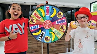 1 SPIN = TOYS VS  DARE!! Spin Wheel Challenge - LOL Surprise Dolls   Toys AndMe