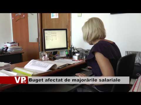 Buget afectat de majorările salariale