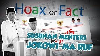 Hoax or Fact: Beredar Surat Susunan Menteri Kabinet Jokowi-Ma'ruf di WhatsApp
