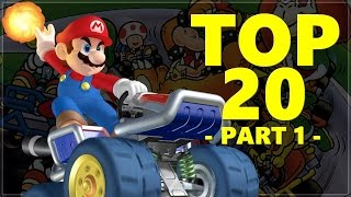 Top 20 Retro Mario Kart Tracks PART 1! Ft. Nathaniel Bandy