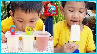 น้องบีม | ไอติมยาคูลท์และน้ำผลไม้ทำกินเอง Ice Cream