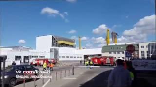 В Лебедяни обрушился склад PepsiCo 25.04.2017г.