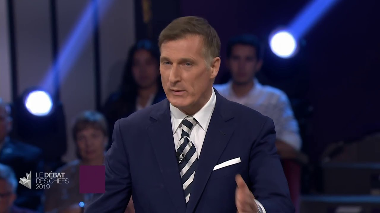 Maxime Bernier answers a question about relations with China