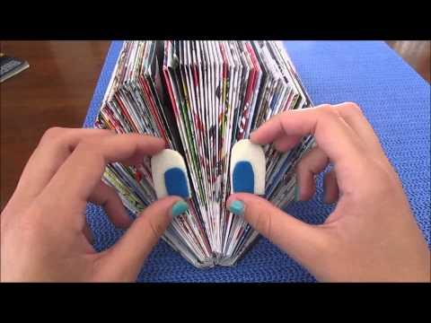 Ferma documenti o porta carte riciclato con dei giornali !!!! Facilissimo