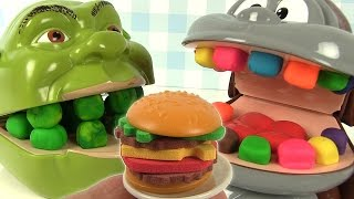 Play Doh Dentiste Shrek mange des hamburgers Burger Mania Game