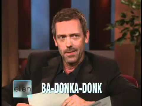 Hugh Laurie vs Ellen DeGeneres - English vs American slang