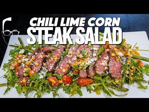 CHILI LIME CORN STEAK SALAD | SAM THE COOKING GUY